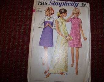 SIMPLICITY 7345 uncut dress pattern sizee 14