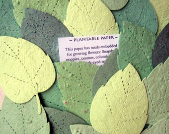 Recycled seed paper bombs stars flower seed wedding favors 120 seed paper green leaves large size plantable paper leaf wedding favor diy place cards flower seed birch leaves mightylinksfo