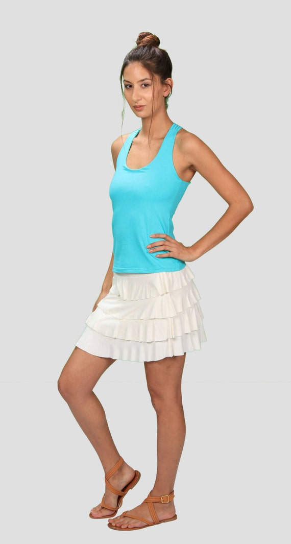Faith Yoga Tank Top in Turquoise for Womens Summer Fashion  Boho Chic Festival Wear Gift for Her Wholesale