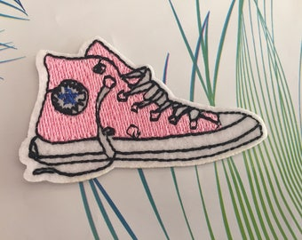 Shoe Embroidered Iron On Patch, sewing patch, shoe patch, sneakers patch
