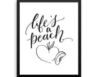 Life's a Peach Framed Poster