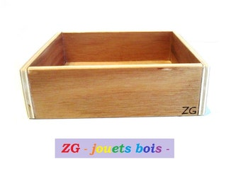 Box storage for rough script uppercase or LOWERCASE Montessori letters holder wood, sized for our shelves, handmade