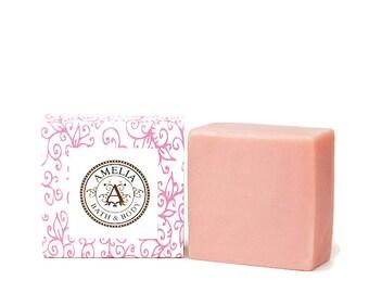 Rose orchidée | Le beurre de karité savon, savon de luxe, parfum Floral, froid traitées, idée de cadeau pour les femmes | Le beurre de karité rose orchidée au savon en grande taille