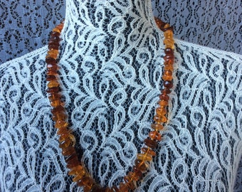 Vintage Necklace  Amber 44.44 g