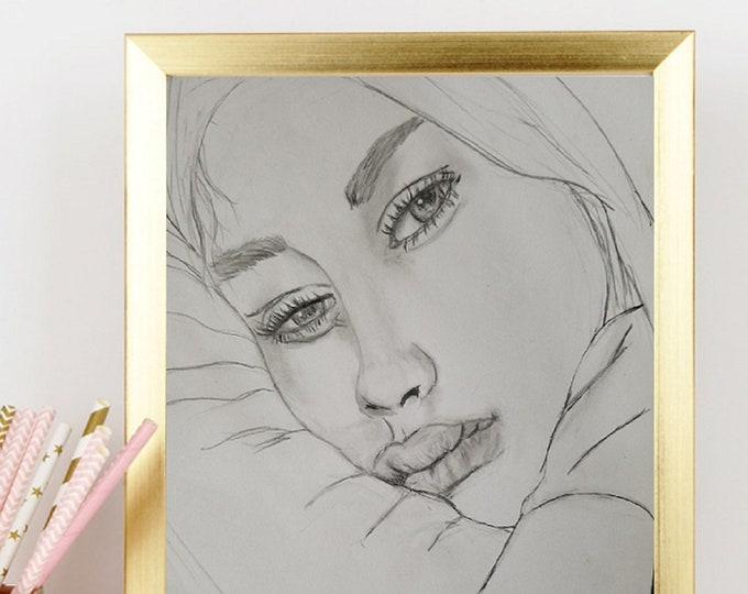 Paper Print Fashion Art - Fashion Print - Fashion Sketch - Bedroom Art - Bathroom Art - Teen Bedroom Decor - Fashion Illustration - Bath Art