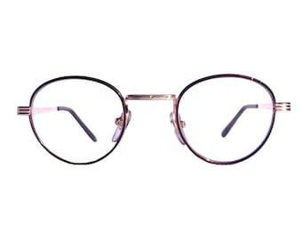 Vintage 80s Round Eyeglasses, Sunsensor Lenses, John Lennon Glasses, Clear Lenses Gold Frames, Men Women