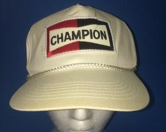 Vintage Champion Trucker SnapBack Hat Adjustable 1980s
