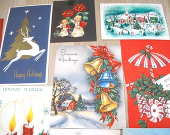10 Vintage Christmas Card Images- Crafting Scrapbook Repurpose