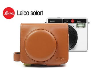 Brown Leica Sofort Camera Bag Protection Case.