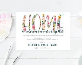 Housewarming Party Invitation, Housewarming Invitation, Printable Invitation, Home Sweet Home, Our New Home, Modern Housewarming Party [450]