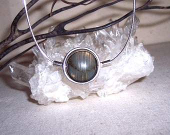 LABRADORITE -hand-cut- Stone Sphere Necklace