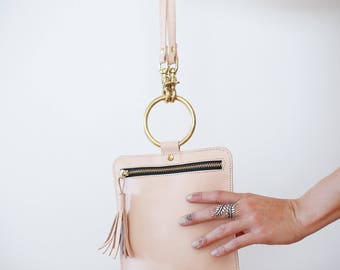 READY TO SHIP- Vera Crossbody Bag/Clucth in veg tanned