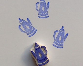 Tea pot rubber stamp, tea time stamp, coffee pot stamp, craft supplies, pot of tea, stamping, scrapbooking, card making, afternoon tea, diy