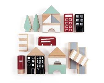 Blocks - Wooden Blocks - Building Blocks - Wooden Blocks Set - Wooden Building Blocks - Wooden Toys - Toddler Toy - Baby Gift