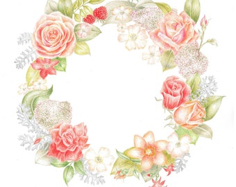 wreath, flowers, spring, wedding,plants