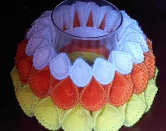 Candy Corn Candy Dish or Candle Holder Finished Item