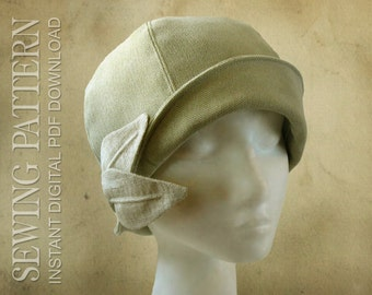 SEWING PATTERN - Daryn, 1920s Cloche Hat for Child or Adult