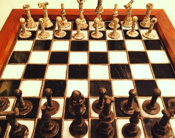 Nuts & Bolts Chess Board