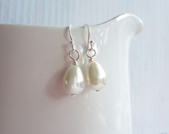 Ivory Drop Earrings, Ivory Earrings, Bridal Earrings, Swedish Jewelry Design, Made In Sweden, Swedish Wedding Design