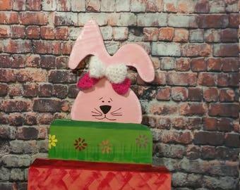 Easter Door Hanger,Easter Decoration,Easter Door Decoration,Wooden Decoration,Easter Rabbit