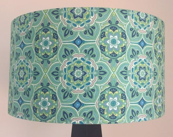 Gorgeous green Moroccan print lampshade (FREE SHIPPING)