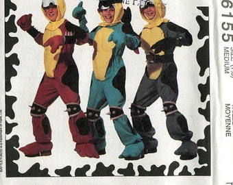 FREE US SHIP Sewing Pattern McCall's 6155 Battletoads Battle Toads Boys Costume 1992 Size 5/6,7/8 Uncut Halloween Costume Jumpsuit Helmet