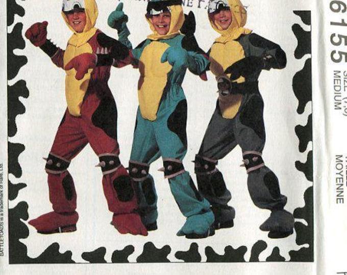 FREE US SHIP Sewing Pattern McCall's 6155 Battletoads Battle Toads Boys Costume 1992 Size 5/6,7/8 Uncut Halloween Costume Jumpsuit Helmet