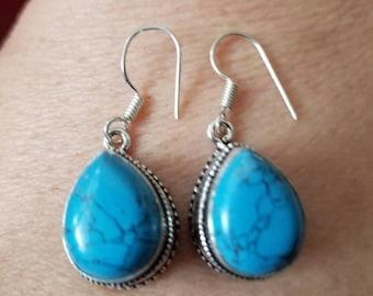 Sleeping Beauty Turquoise Earrings!