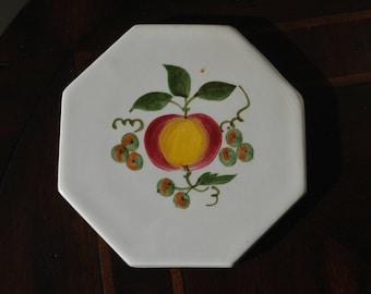 Stangl Apple Delight Tile / Trivet - #5161 Art Pottery - Mid-century Pottery