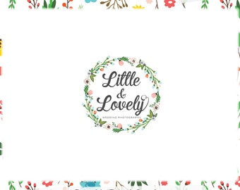 Floral Wreath Logo Design & Blog Header - Web, Blog, Print -Limited Edition! Perfect For Boutique, Photographer, Handmade Shop, Florist