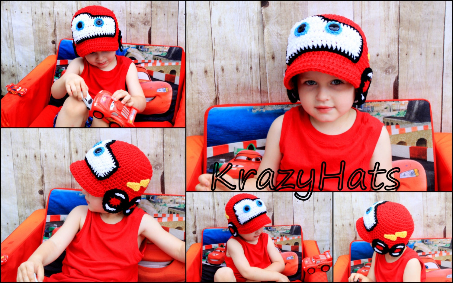 Crochet red racing car hatochet red car hat zoom bankloansurffo Choice Image