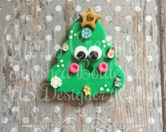 Polymer Clay - Handmade - O Christmas Tree - Singing Tree - Cute Christmas - Handmade Polymer Clay