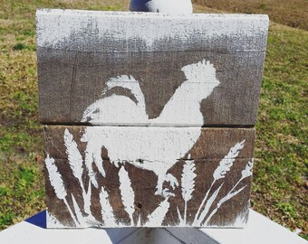 Reclaimed Wood Rooster Sign
