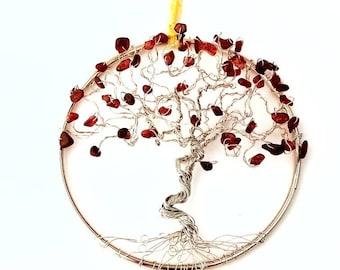 Crystal Suncatchers, Garnet Suncatcher, January Birthday Gift, Anniversary Gifts, Long Distance Gifts