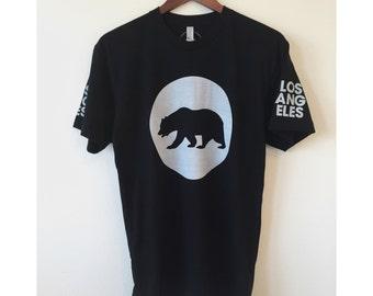 Los Angeles California Circle Flag T-shirt