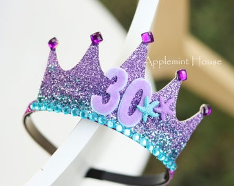 Mermaid birthday crown,Adult mermaid birthday crown,Adult mermaid crown,Adult mermaid tira,Mermaid birthday crown,Mermaid birthday