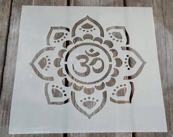 Inspired OM Flower stencil