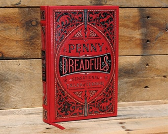 Hollow Book Safe - Penny Dreadfuls Sensational Tales of Terror - Leather Bound