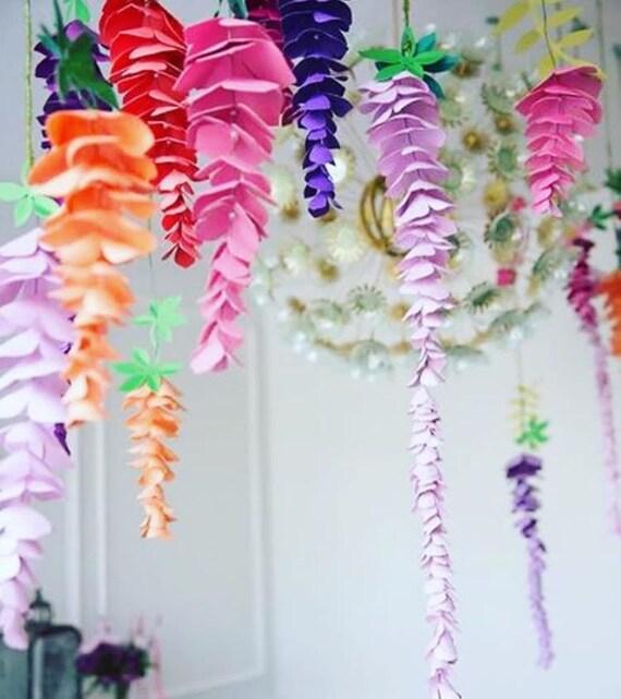 Wisteria paper flowers hanging wedding flowers svg paper mightylinksfo