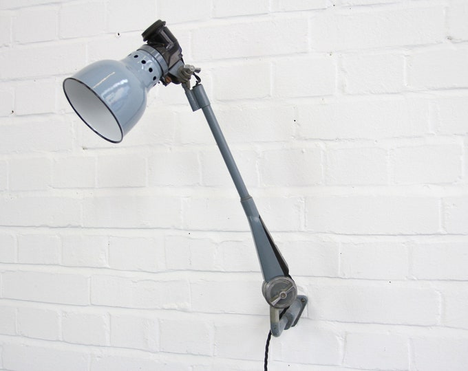 Wall Mounted Industrial Lamp By Ernst Radermacher Circa 1930s