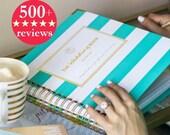 Keepsake Wedding Planner Book, Monogrammed Planner, Wedding Planning Guide, Keepsake Planner, Engagement Gift, Maid of Honor Gift, Organizer