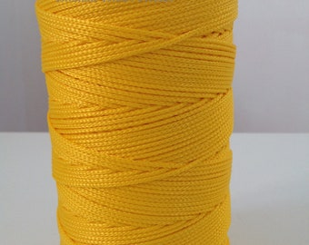 Coil cord viscose yellow Buttercup - making bags, gift bags, tote bag