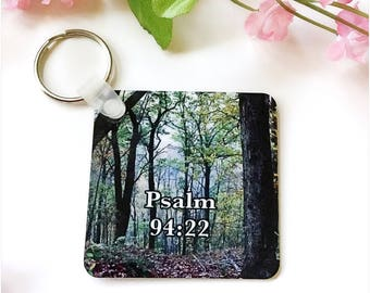 Christian Keychain, Bible Verse KeyChain, Inspirational Keychains, Printed Keychain, Sublimated Keychains, Glossy Two Sided Keychain, Gift