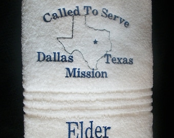 Missionary Bath Towel Called to Serve with State or Country
