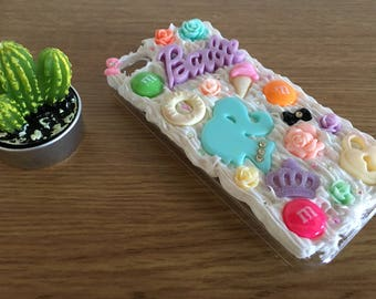 decoden iphone 5/5s case | tumblr, nineties, kawaii, whipped cream case, clear case, protective case, iphone 4, 6, 6 plus, unique gift