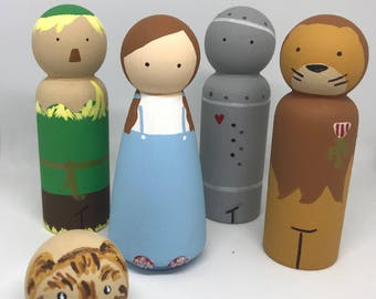 Wizard of Oz peg dolls