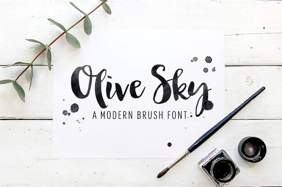 Font Bundle Handwritten Fonts Modern Calligraphy Brush