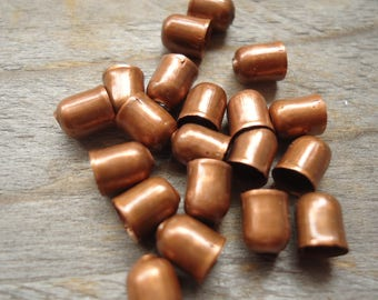 End cap bead caps copper 4 mm