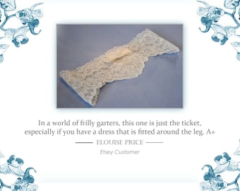 lace garter in corded stretch lace