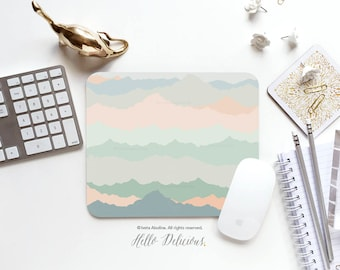 Mousepad Mountains Mousepad Rocky Mountains Mouse Mat Nature Mouse Pad Office Mousemat Rectangular Mousemat Print Mousepad Round 31.